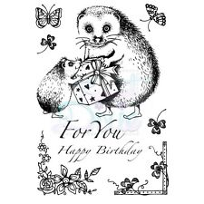 Sweet Dixie Hedgehog For You Clear Stamps birthday cute cardmaking corner clover