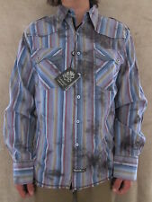 ENGLISH LAUNDRY 100% Cotton Striped Multi Colored Casual Shirt Size XXLARGE NWT