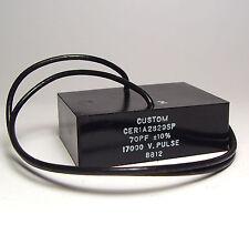 Glimmer-Kondensator / Glimmerkondensator 70 pF, 17 kVp, Custom Mica Cap, NOS