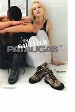 PUBLICITE ADVERTISING 2010   PM  JEAN PAUL GAULTIER chaussures PATAUGAS