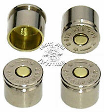 BULLET BOLT CAPS FOR HARLEY HANDLE BAR CLAMPS (NICKEL)