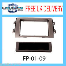 Fiat Sedici 06 on Black Double Din Car Stereo Fitting Kit Facia CT23FT06