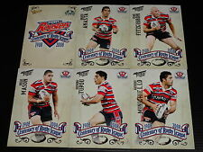 2008 NRL Select Centenary Team Set of 6 Cards Sydney Roosters