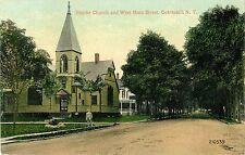A View of the Baptist Church & West Main Street, Cobleskill Ny