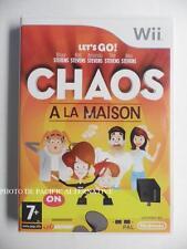 Jeu CHAOS A LA MAISON sur nintendo WII en francais pour enfant spiel juego PAL