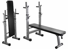 Weight Bench Flat & Incline Press Dip Station Sit Up Workout Training Bench