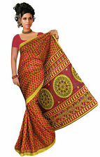 mousseline Bollywood Carnaval SARI ORIENT INDE fo347