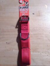 """Vintage 24"""" Double Ply X-Large Dog Collar(NEW)Rose America Corp,Pet products div"""