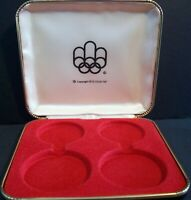 1976 CANADA MONTREAL XXI OLYMPICS Empty Case (Type 1) for 4 Silver Coins RARE