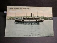 Steamer WYANDOTTE, New London, Conn Naval Cover unused post card CT
