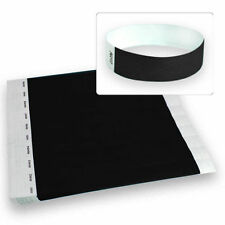 """3/4"""" Tyvek Wristbands for Events, Clubs, and Parties - Black-500 Count"""
