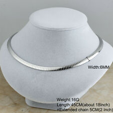 316L Stainless Steel Silver Fashion Women Lady Charm Collar Choker Necklaces 4MM