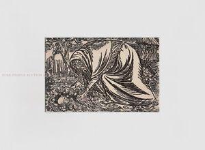 ERNST BARLACH - CHILD DEATH * RARE PRINT *  in stable antique white mount