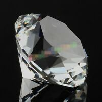 New 30mm Clear Crystal Diamond Shape Paperweight Gem Display Gift Ornament