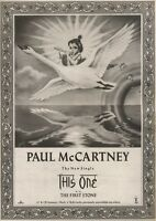 22/7/89Pgn09 Advert 'this One B/w First Stone' By Paul Mccartney 15x11