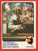 1973 Topps #142 Thurman Munson VG-VGEX+ New York Yankees FREE SHIPPING