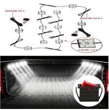 12V 10 Modules Car Van RV Super Bright  60 LED On/Off Switch IP67 Ceiling Light