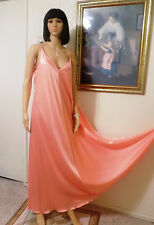 CLAIRE SANDRA LUCIE ANN BH 1960s vintage Polyester Negligee CORAL size M medium
