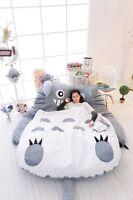 Totoro Smile Single/double Cartoon Bed Mattress Large Bean Bag Lounge 2*1.45m