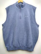 Carnoustie Mens 1/4 Zip Vest Xl Sky Blue Lined Sport Casual Pockets Golf