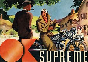 1937 OK Supreme motorcycles poster