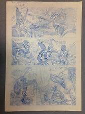 JAMES O'BARR X-MEN WOLVERINE NIGHTCRAWLER ORIGINAL COMIC ART PAGE THE CROW