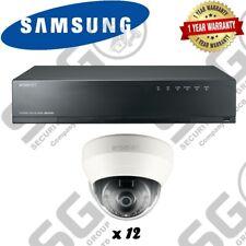 Samsung 16Channel PoE NVR 3tb With 12 CCTV Cameras 3yr Warranty FREE CCTV SIGN