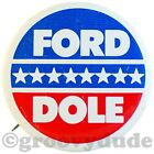 1976 President Gerald Ford Dole '76 Stars Political Campaign Pin Pinback Button