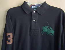 NWT $145 POLO RALPH LAUREN Mens XL DUAL MATCH Black L/S CLASSIC FIT Cotton Shirt