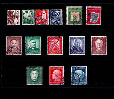 ALLEMAGNE FEDERALE Obl  n° 53/56, 57/58, 59/62, 76/79 / USED / TTBE