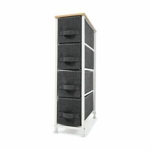 4-drawer Storage Fabric Organizer Cabinet Entryway Fabric Storage Chest Shelf AU