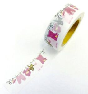 Baby Girl Bunting Washi Tape Papercraft Planner Supply Journal Shower Cards