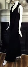 Marc NY Andrew Mark Poly Spandex Jumpsuit Wide Leg Elastic Waist Two Pockets