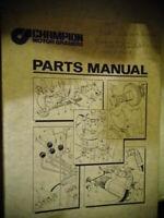 1987 Vintage Champion Motor Graders Parts Manual Diagrams