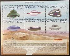 TANZANIA  1824  Beautiful  Mint  NEVER  Hinged  Sheet  UFO'S  UPTOWN