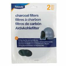 PetMate Booda Charcoal Clean Step Cat Litter Dome Air Filters Fresh Smell 2 pack