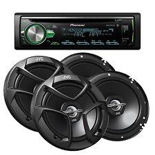 Pioneer DEH-S5100BT 1-DIN Car Stereo CD Player / Bluetooth + 4 JVC CS-J620 300w