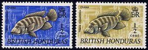 1969-72 British Honduras SC# 234-235 - Fish - M-H