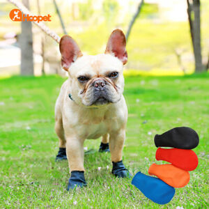 4pcs/set Dog Rain Boots Socks Paws Rubber Reusable Disposable 100% Waterproof