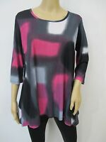 Maple Watercolor Print 3/4 Sleeve SHARK BITE TUNIC TOP Sz M~L
