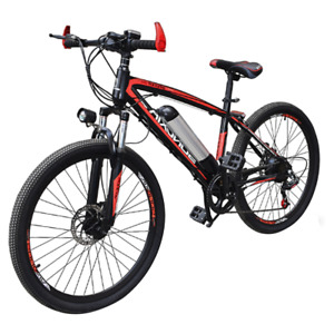 Electric Bikes, E-Bikes, Ebikes for Adults, 250W, 21 Speed (Red & Black)