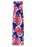 Fa M ou S High Street Women's M S Large Rose Blue & Pink Maxi Dress RRP £45 8-22