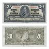 1937 $20 Bank of Canada Coyne Towers K/E 7205561  - F/VF