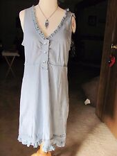 Ladies Roper Blue Lace Trimmed Dress Brand New Size XL V neck Sleeveless