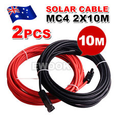 2x 10m Extension Cable Wire MC4 Connectors 4mm2 Solar Panel to regulator Cable