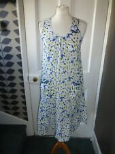 DKNY DRESS SIZE 12 PRETTY FLORAL COTTON SLEEVELESS DRESS