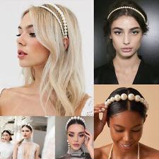Fashion Women White Pearl Headband Hairband Hair Band Hoop Hair Accessories Gift