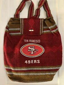 San Francisco 49ers knitted satchel backpack 16x15x5 Red/Gold/White