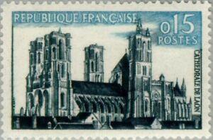 EBS France 1960 Tourism - Laon cathedral - Cathédrale de Laon YT 1235 MNH**