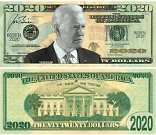 President Elect Joe Biden 2020 Dollar Bill Play Funny Money Note + FREE SLEEVE